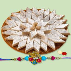 Rakhi with Kaju Katli to Barauipur