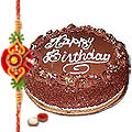 Enjoy the tasty 5 Star Bakery / Taj Cake with free Rakhi Roli Tika and Chawal to Bangalore
