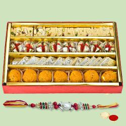 Rakhi with Assorted Sweets to Amalampuram
