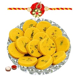 Rakhi with Keser Peda to Bangalore
