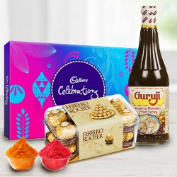 Celebrate Holi with Kesariya Thandai Hamper to Rajkot