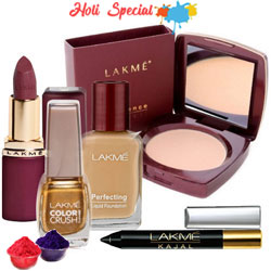 Attractive offer from Lakme containing Compact, Nail Polish, Lipstick, Foundation and  Kajal to Barauipur