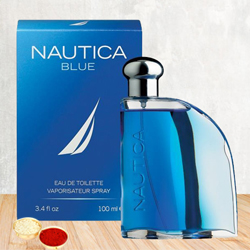 Smelling Best with Nautica Blue EDT for Men with free Roli Tilak and Chawal to Bhavnagar