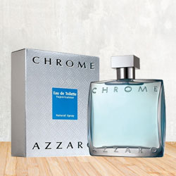 Exciting 100 ml Gents Eau de Toilette Perfume from Azzaro Chrome to Gorakhpur