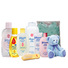 Wonderful Johnson Baby Care Pack with Teddy to Ahmedabad