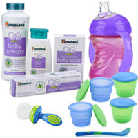 Remarkable Himalaya Baby Care Gift Kit with Unconditional Affection to Bombay