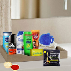 Glamorous Men�s Refreshing Gift Set with free Roli Tilak and Chawal to Amritsar