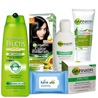 Gorgeous Display of Women Skin N Hair Care Solution from Garnier to Guwahati