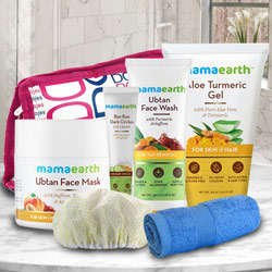 Marvelous Mama Earths Face Care Gift Hamper to Bairgania
