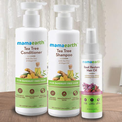 Marvelous Mama Earths Hair N Care Hamper to Ahmadnagar