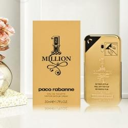 Aromatic Paco Rabanne 1 Million Eau de Toilette Gift for Men to Allahabad