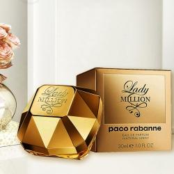 Remarkable Paco Rabanne Lady Million Eau de Perfume Gift for Her to Almora