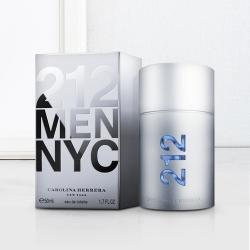 Lovely Mens Gift of Carolina Herrera 212 NYC Men Eau de Toilette to Adoni