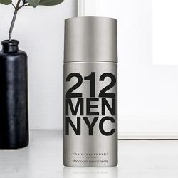 Lovely Gift of Carolina Herrera 212 NYC Deodorant for Men to Allasandra