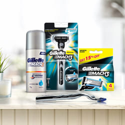 Wonderful Gillette Mach3 Shaving Kit for Men to Adoor