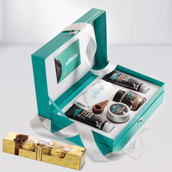 Refreshing Coffee Mood Skin Care Gift Kit with Ferrero Rocher Chocolate to Adoor