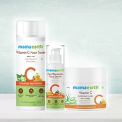Glow with Mama Earth Night Regime Skin Care Combo to Aluva