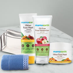 Affectionate Mamaearth Natural Face Care Kit with Soft Face Towel N Pouch to Aluva