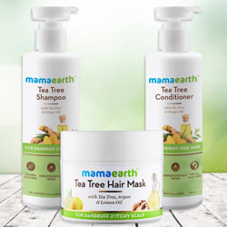 Glow with Mamaearth Tea Tree Anti Hair Freez Spa Kit to Aluva