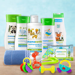 Comforting New Born Baby Care Hamper from Mamaearth to Aalangulam