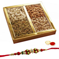 Tasty Special Dry Fruits Treat with Free Rakhi,RoliTilak and Chawal to Cochin