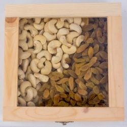 Delicious Cashew n Raisin in a Wooden Gift Box to Ahmedabad