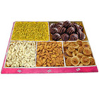 Pleasurable Assorted Dry Fruits N Chocolates Gift Combo to Barughutu