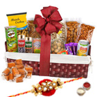Gobbling�s Excess Dry Fruits Hamper with One Rakhi and Roli Tilak Chawal to Ariyalur
