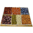 Festooned Treat Dry Fruit and Chocolate Platter to Hyderabad