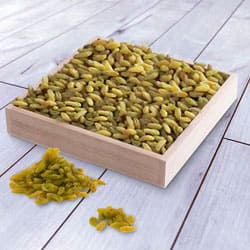Special Raisins in a Wooden Tray to Addanki