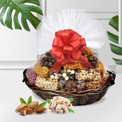 Delectable Assorted Dry Fruits Gift Basket to Akurdi