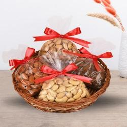 Delectable Assorted Dry Fruits Basket to Allahabad