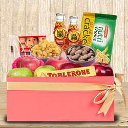 Tasty Fresh Fruits N Assortments Gift Box to Adugodi