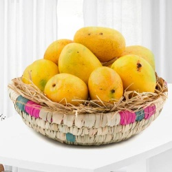 Mangoes decorated in Basket 2 Kg to New Delhi