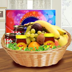 Yummy Basket of Fresh Fruits N Assortments to Adilabad