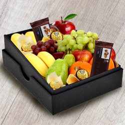 Yummy Box of Fresh Fruits N Chocolates to Behrampur