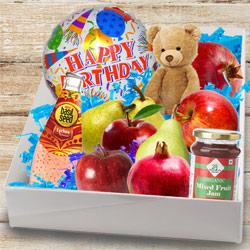 Delectable Box of Fresh Fruits N Assortments to Berhampur