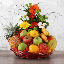 Aromatic Fruits n Flowers Gift Basket to Agra