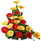 Charming bouquet of brightly hued  Gerberas  to Chirala