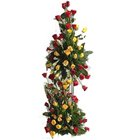 100 gorgeous multihued Rose arrangement to Barrackpore