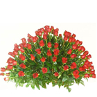 Arrangement of bright Red Roses to Barasat