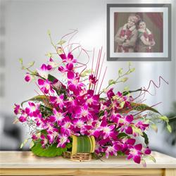Bunch of stunning fresh 10 Orchids to Ankleshwar