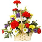 Beautiful varied arrangement of Carnations and Gerberas to Belgaum