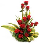 Magnificent 15 Red Roses with a Basket to Hyderabad