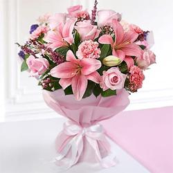 Magnificient bouquet of colorful assorted Seasonal Flower  to Gurgaon