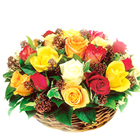 Assorted Fresh Roses Arrangement to Thane