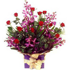 Our Exclusive Arrangement of Orchids n Roses to Mysore