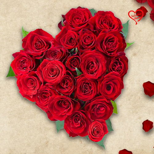 Exclusive Dutch Red Roses in Heart Shaped Arrangem... to Sirsi