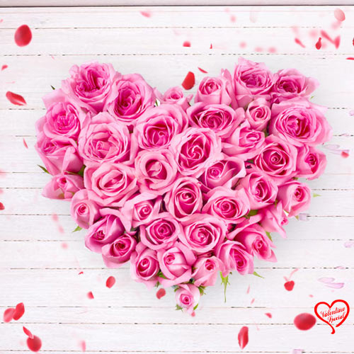Pink Heart Shaped Arrangements to Sirsi