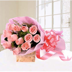 Marvellous Pink Roses bouquet to Trivandrum
